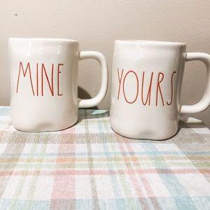 Rae Dunn mug set - Mine & Yours